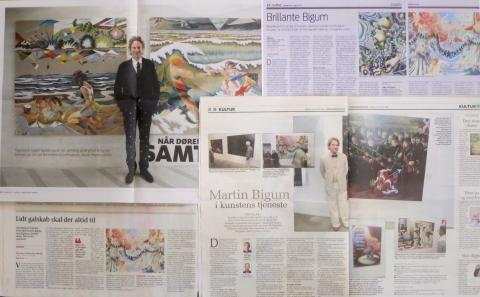 2015-16; Martin Bigum, Frederiksborg Castle, Bornholms Kunstmuseum and Trapholt Museum of Art, Kolding