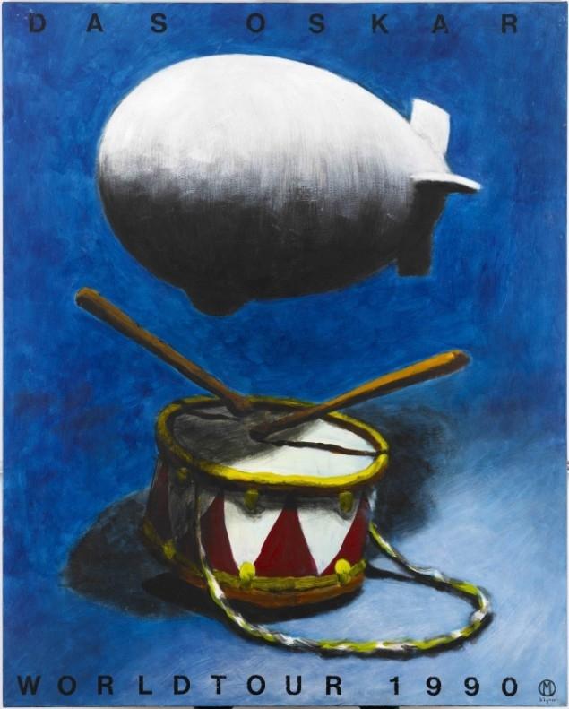 Martin Bigum, the Berlin wall, painting, Danish art 1990's, AROS, collection