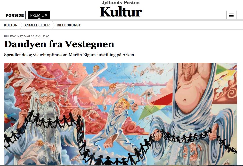 Review of Martin Bigum - ARKEN in Jyllandsposten