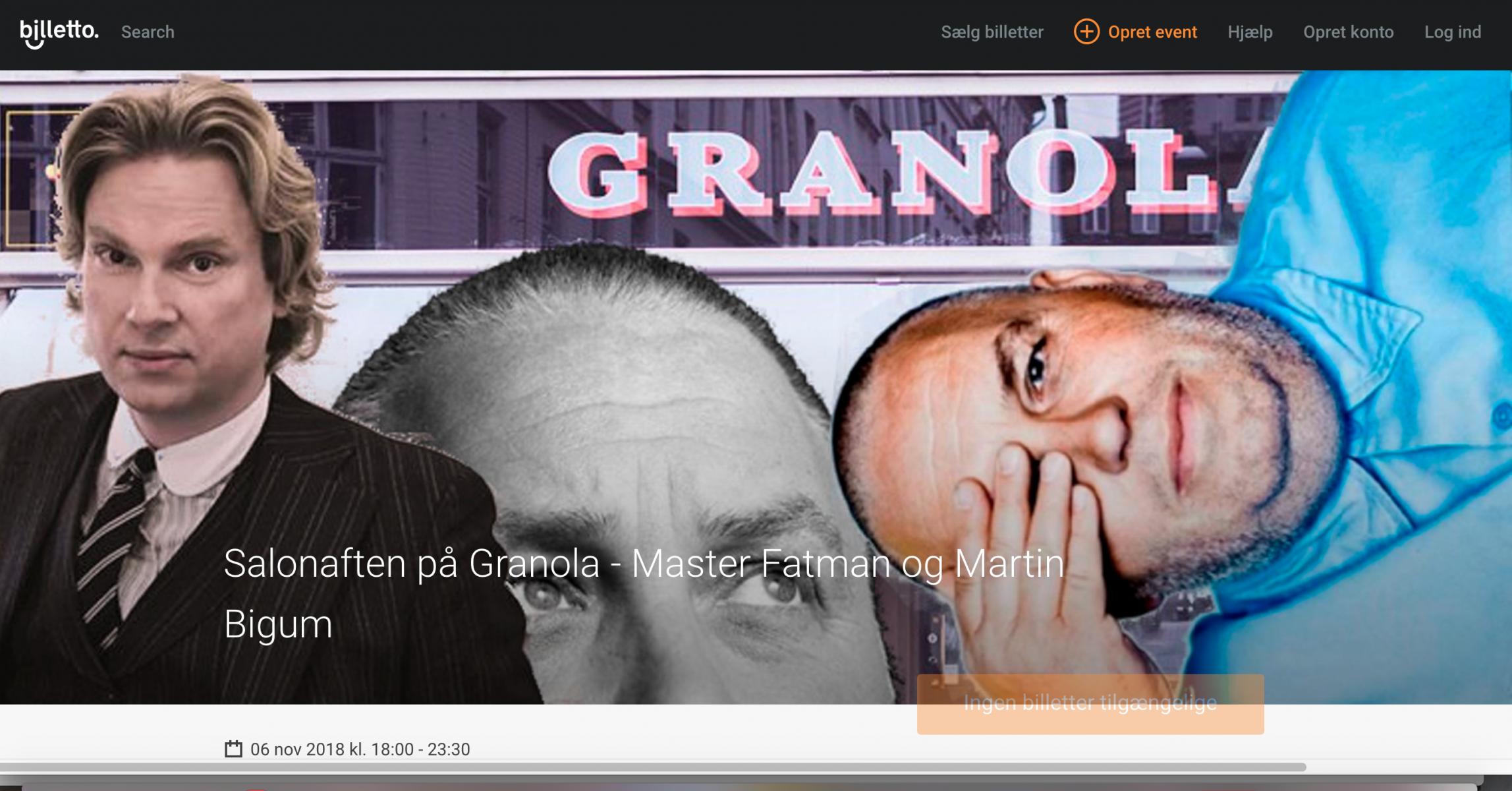 Martin Bigum, Master Fatman, Cafe Granola, Copenhagen, Værnedamsvej