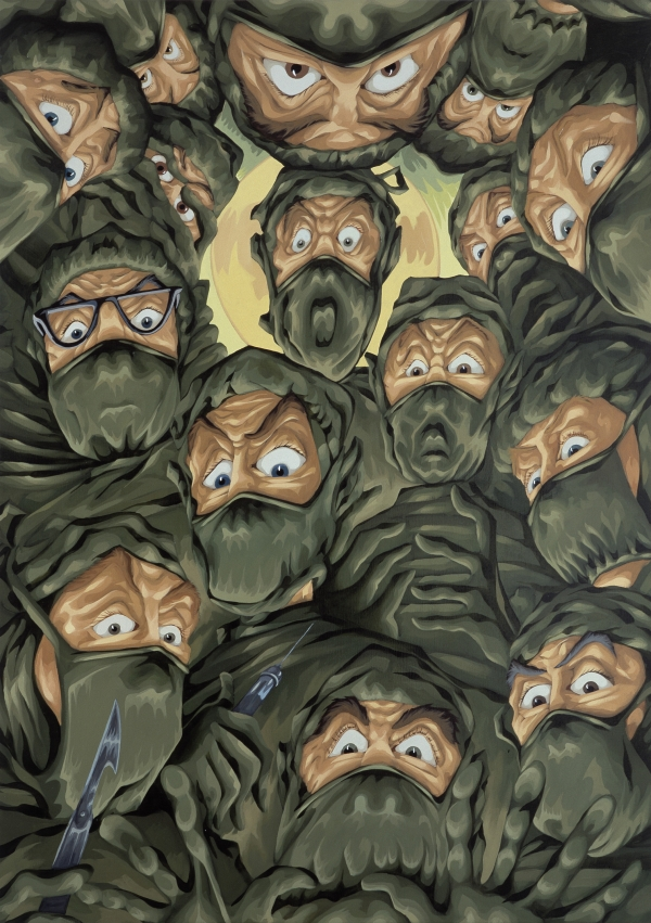 Terrified Surgeons , 2004, oil on canvas, 190 x 135 cm, private collection, Paris
