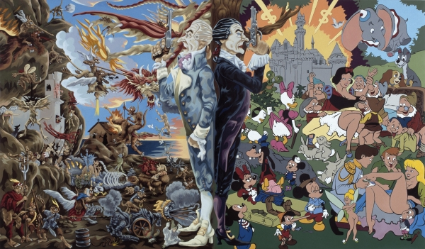 Sacred & Profane, 2003, oil/acryl on canvas, 170 x 240 cm, Marc Blondeau Collection, Geneva