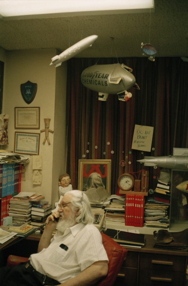 Portrait of Mr. William M. Gaines, founder and editor of MAD magazine Photographed in his MADison Avenue head quarter, 1991, 2005, photography, 100 x 75 cm