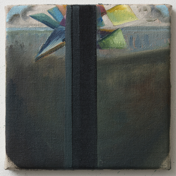 Rattling wind: Svinkløv Badehotel, room 28, 2014, Oil on canvas w. rabbitglue, 20 x 20 cm, Hotel Nyborg Strand Collection, DK