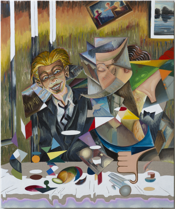 Memory Lane, 100 x 120 cm, oil on canvas w. rabbitglue, 2015, New Carlsberg Foundation/ Marselisborg Gymnasium