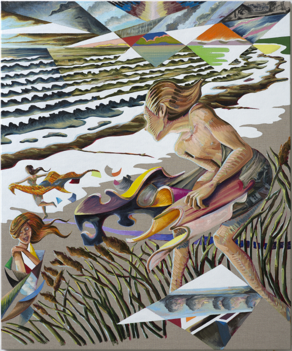 The Girls of Summer, 2015-16, 100 x 120 cm, oil on canvas with rabbit glue Trapholt Art Museum