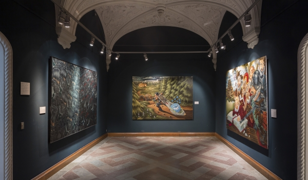 The Homecoming, Installation view, Frederiksborg Castle, My Own Art, 1989-2015: Hunter & The Hunted, The Veteran (Per Kirkeby) and Chr. the 4th, Childhood and Kingdom