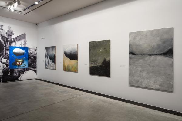 Installationview, ARKEN- Museum of Modern Art, Copenhagen, 2016-17, A selection of paintings from 1989-90, from Heartland