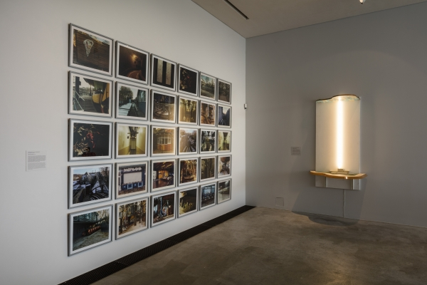 The Homecoming: The Notion of Tivoli plus When-The-Artists-Takes-Over-Power-Tower, 32 photographs of abandoned amusement park Tivoli, Copenhagen, installation view, Arken- Museum of Modern Art, 2016-17. When-The-Artists-Takes-Over-Power-tower, HEART- Herning Museum of Modern Art