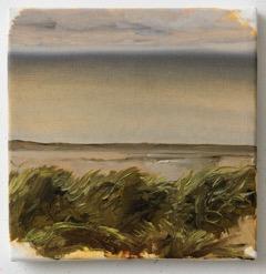 Parti fra Svinkløv Badehotel, 20 x 20 cm, oil on canvas, 2015, private collection