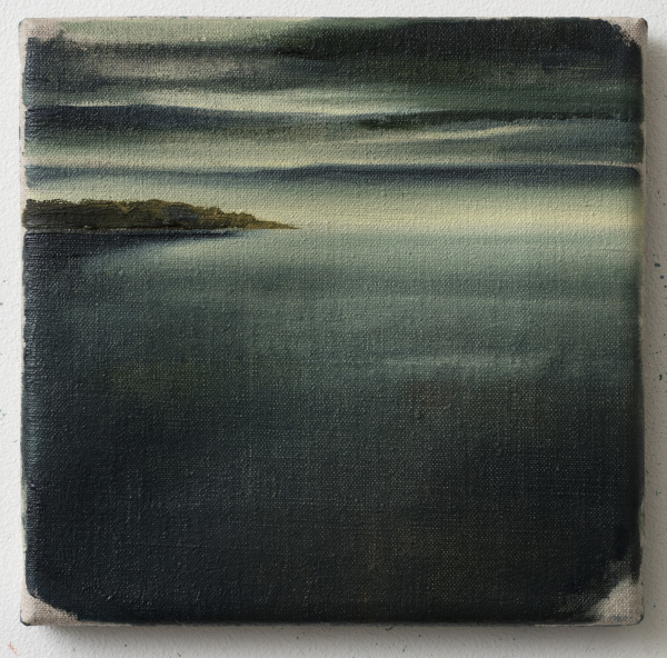 Picturesque part from Bornholm (Salene Bugt), 2015, Oil on canvas, 20 x 20 cm, private collection