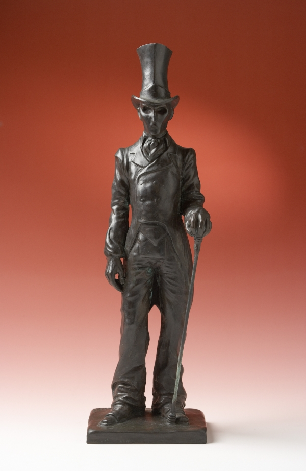 The Shadow (self-portrait as H.C.Andersens The Shadow), 2001, bronze, variable dimensions, height 35 cm