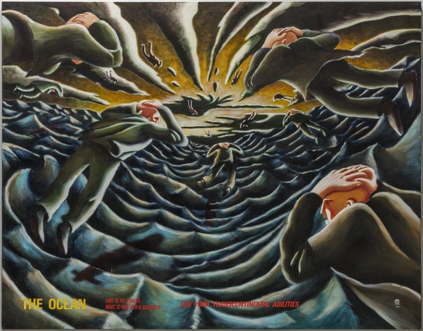 The Ocean, 1990, 180 x 230 cm, acrylic on canvas, private collection