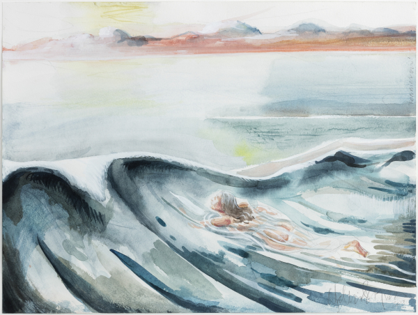 The swell (Pernille in Jammerbugten, DK), 2013, Gouache and watercolor, 2013, private collection
