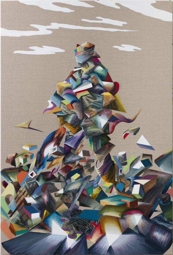 Colossus, 105 x 155 cm, oil on canvas w. rabbitglue, 2017, private collection