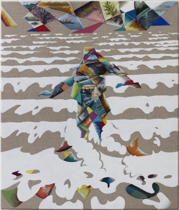 The Future, 60 x 70 cm, oil on canvas w. rabbitglue, 2017, private collection