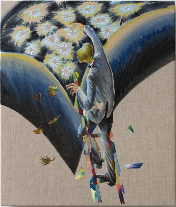 Picks, 60 x 70 cm, oil on canvas with rabbit glue, 2017, New Carlsberg Foundation/ Marselisborg Gymnasium