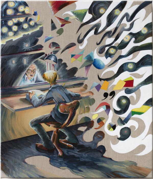 Endeavour, 60 x 70 cm, oil on canvas with rabbit glue, 2017, New Carlsberg Foundation/ Marselisborg Gymnasium