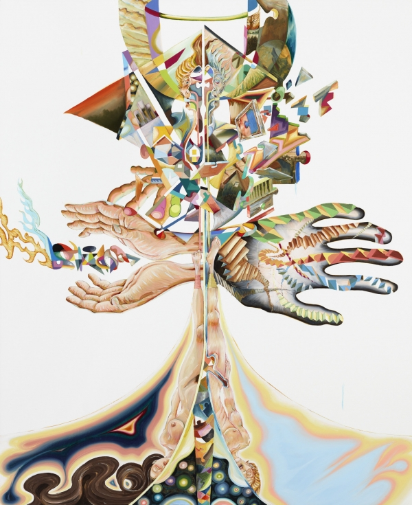Splitvision, 2012, oil on canvas, 180 x 135 cm