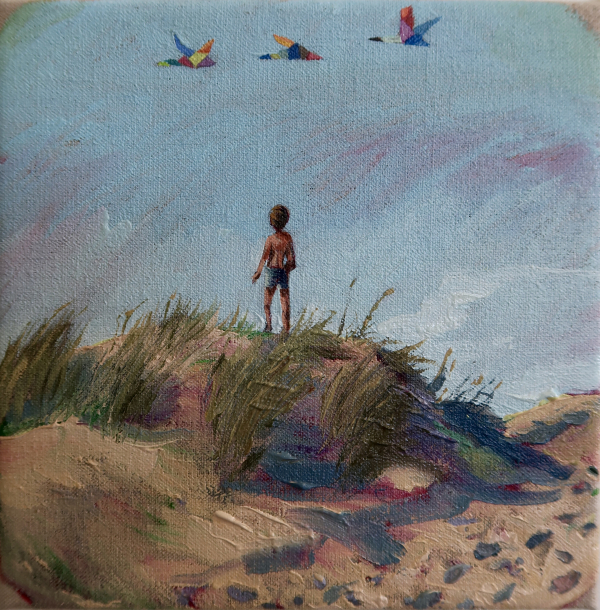 September (Hornbaek, June 6, 2018), 20 x 20 cm, oil on canvas w. rabbitglue, 2019, private collection