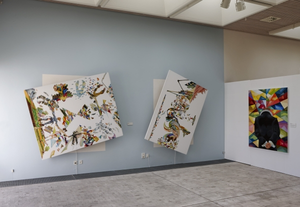 Installationview A Family and Wanderlust, Rotating paintings, Bornholm Art Museum, 2015