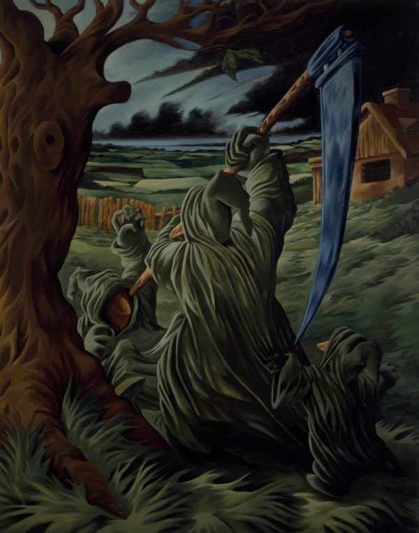 The Killing, 1996, oil on canvas, 200 x 150 cm, private collection