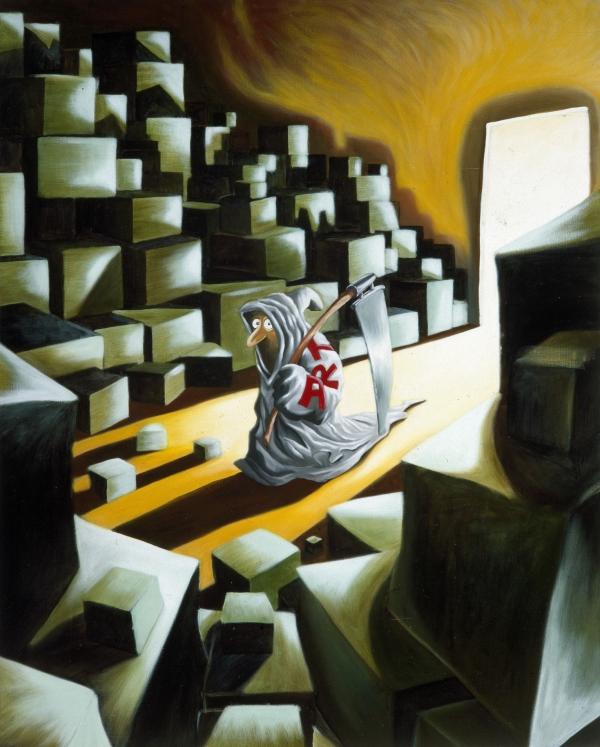 Radical Myth, 1992, acrylic on canvas, 150 x 120 cm, Novo Nordic Art Collection