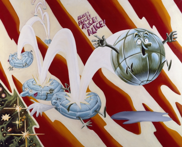 Alice!, 1992, acrylic on canvas, 145 x 180 cm, private collection