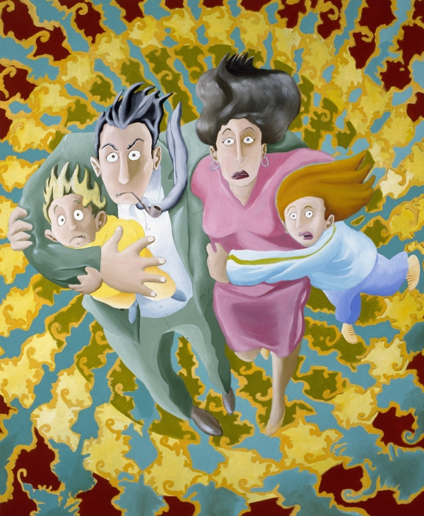 The Family, 1991, 180 x 140 cm, acrylic on canvas, private collection
