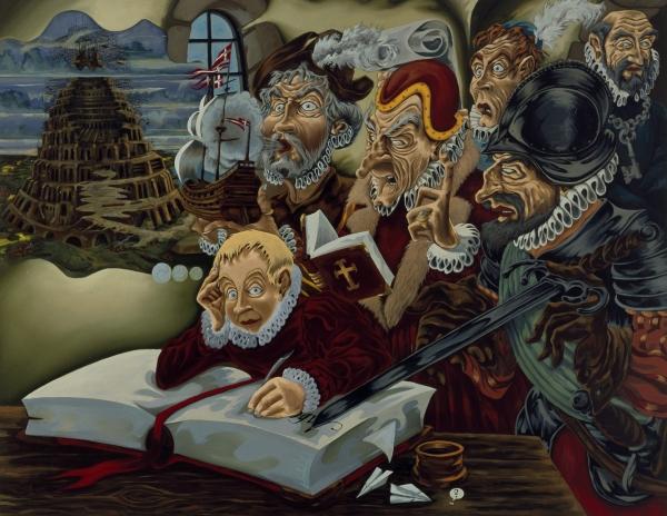 Childhood, 2002, Oil on canvas, 170 x 220 cm, Frederiksborg Castle, Denmark