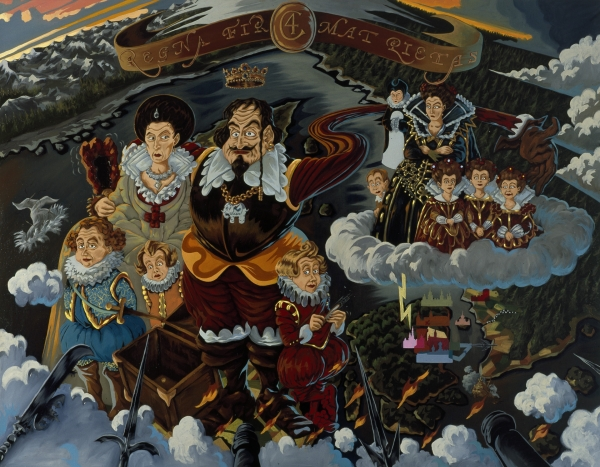 The King's children, 2002, Oil on canvas 170 x 220 cm