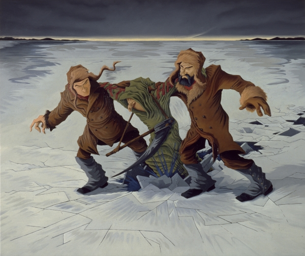 Over the ice, 1997, oil on canvas, 140 x 180 cm