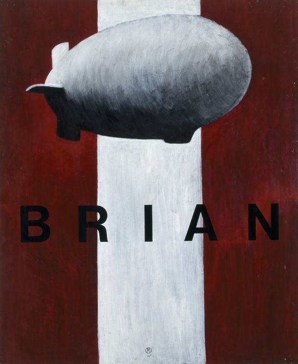 Brian, 1989, 150 x 145 cm, acrylic on wood, Trapholt Kunstmuseum, DK