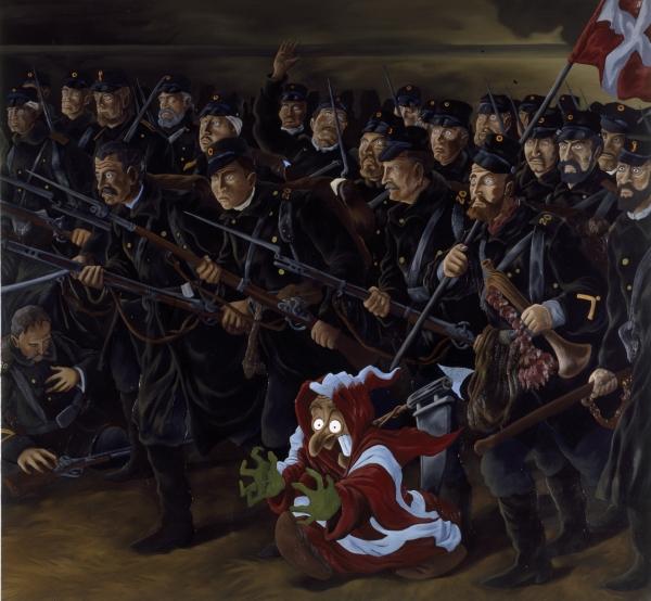 National Retreat (Millennium), 1996, oil on canvas, 200 x 210 cm, ARKEN-Museum of Modern Art