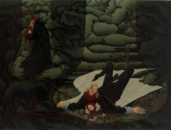 Child taken by Death/ Death taken by Child, 2000, oil on canvas, 180 x 230 cm, private collection
