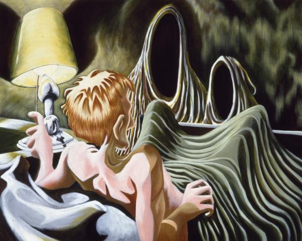 Radical Myth (Böcklin / Lemmerz), 1992, acrylic on canvas, 100 x 140 cm, private collection