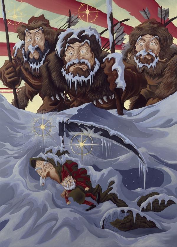 The Last Goblin, 1998, oil on canvas, 180 x 145 cm, Randers Kunstmuseum