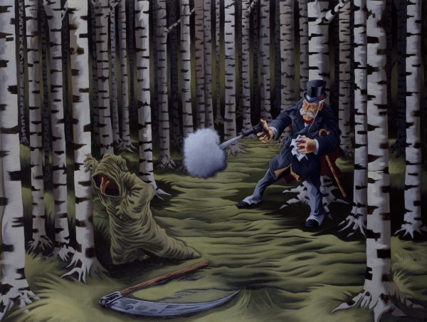 The Secret Life of Dr. Watson, 1998-99, oil on canvas, 140 x 180 cm