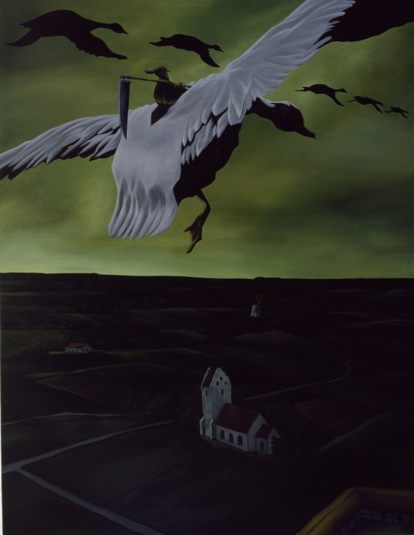 Goosechase, 1994, acrylic on canvas, 180 x 150 cm