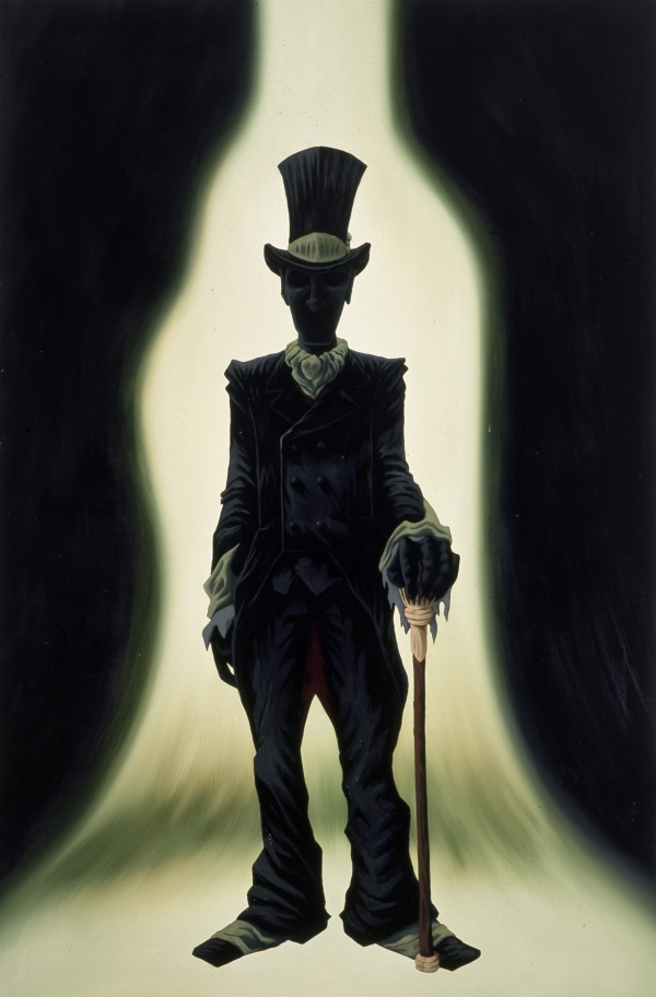 Selfportrait (as H.C.Andersens The Shadow), 1999, oil on canvas, 180 x 140 cm, Statens Kunstfond