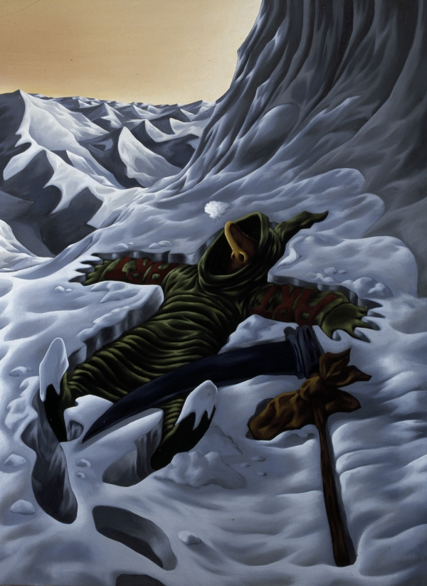 Mountaineer, 1994- 95, acrylic on canvas, 200 x 145 cm, private collection