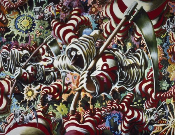 The Adventures of ART, 1992, acrylic on canvas, 180 x 230 cm, ARoS- Aarhus Museum of Modern Art