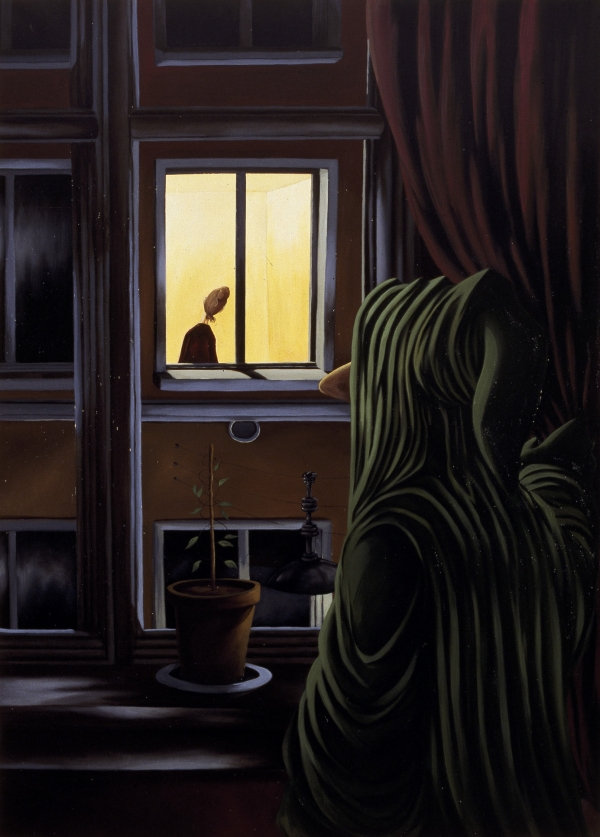 Voyeur, 1994, acrylic on canvas, 190 x 135 cm, private collection