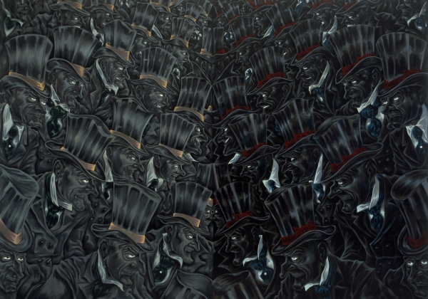 Hunter & The Hunted, 2001, oil on canvas, 160 x 225 cm