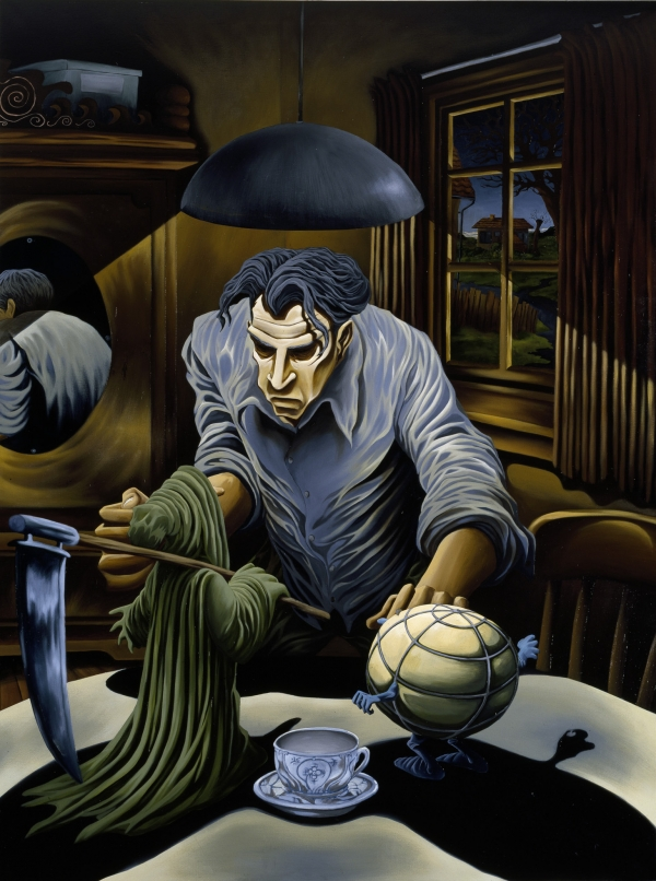 The Miserable Man, 1994, acrylic on canvas, 210 x 157 cm, private collection