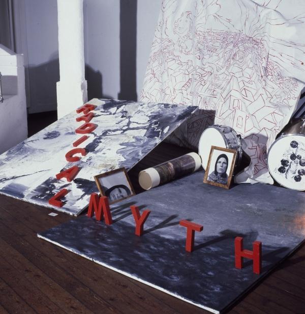 Radical Myth, installation, detail, M 59, Den Frie, 1991