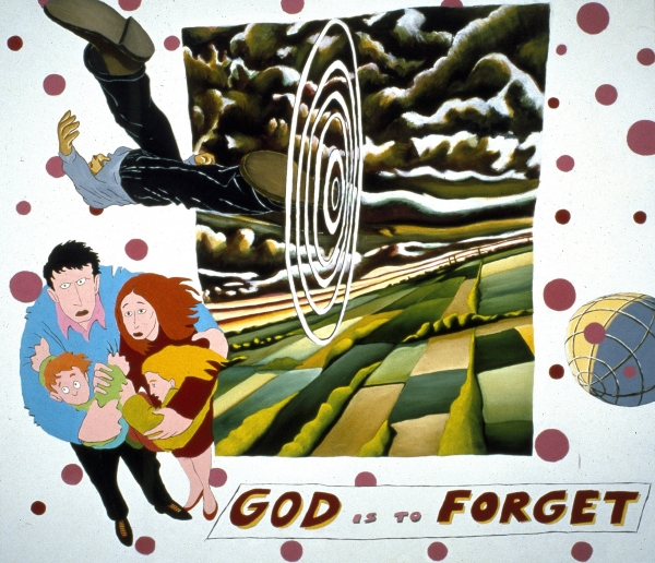 God Is To Forget, 1991, 180 x 140 cm, acrylic on canvas, private collection