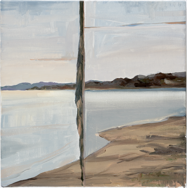 View from Espergærde (horizontal) and Hven (vertical), DK, 2004, Oil on canvas, 30 x 30 cm, private collection