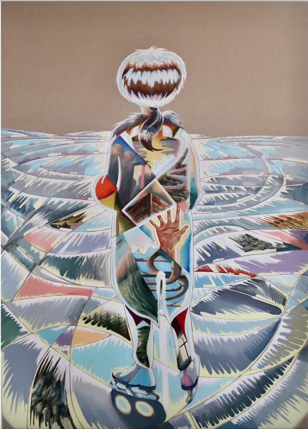A sudden memory, 2020, Oil on canvas w. rabbitglue, 180 x 145 cm, Charlotte Fogh Gallery