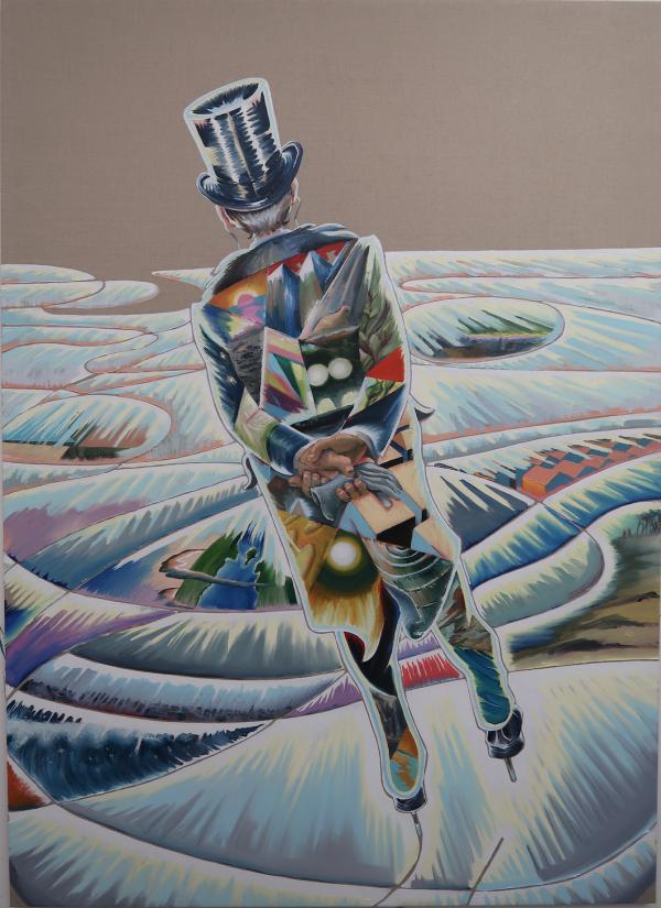 A change of course, 2020, Oil on canvas w. rabbit glue, 180 x 145 cm